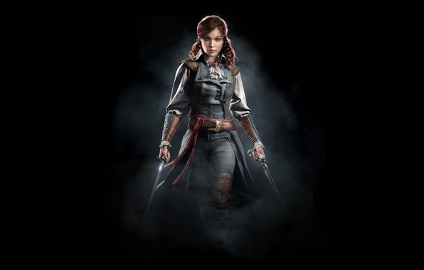 Picture girl, art, assassin, Assassin's Creed Unity, Eliza