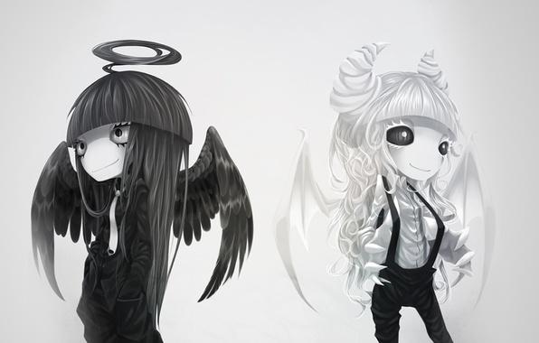 Картинки ангел девушка демон девушка