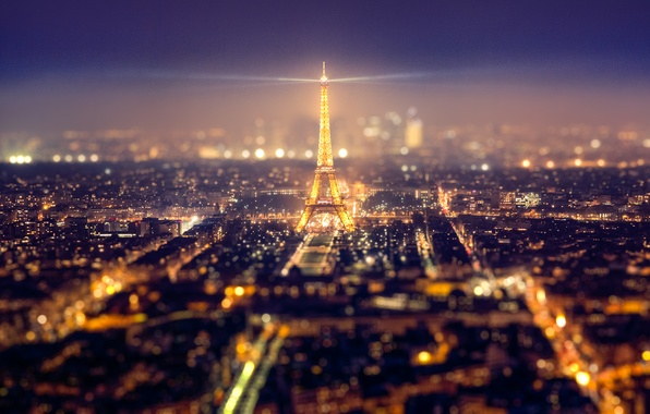 Picture night, city, the city, lights, Eiffel tower, Paris, home, Paris, megapolis, photo, photographer, tilt shift, …
