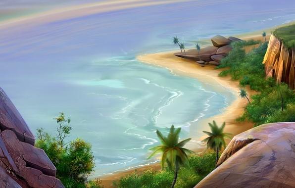 Picture sea, figure, Beach