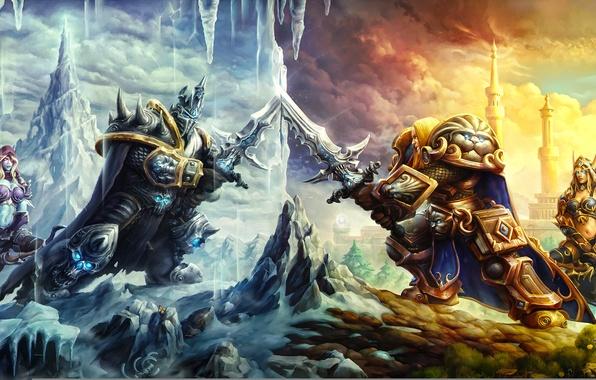 Wallpaper warcraft art arthas sylvanas heroes of the - Heroes of the storm phone wallpaper ...