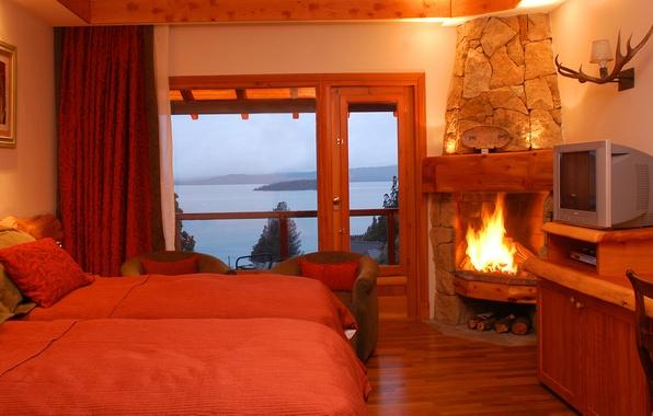 Picture design, house, style, room, interior, cottage, bedroom, Fazenda