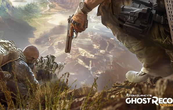 Picture desert, Canyon, soldiers, Tom Clancy's, Ghost Recon Wildlands