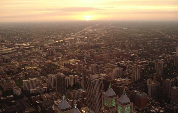 Picture Sunset, Chicago, Illinois