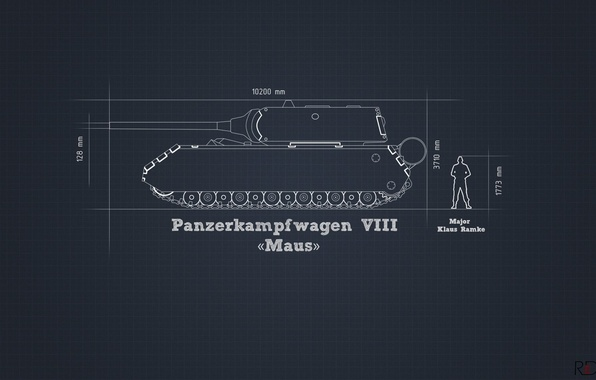 Picture information, minimalism, tank, the project, heavy, German, Maus