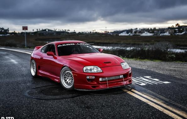 Photo Wallpaper Turbo Red Supra Japan Toyota Jdm Tuning
