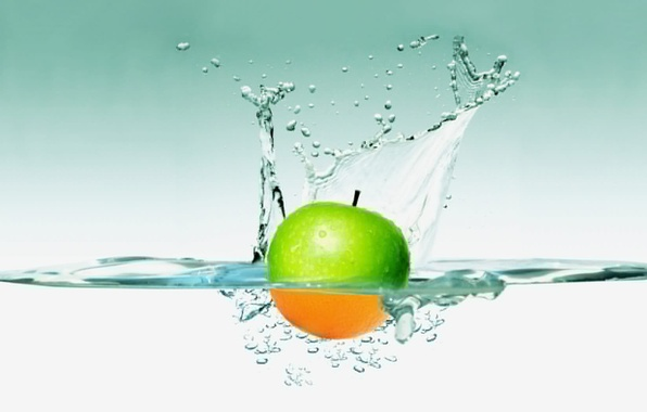 Picture water, squirt, Wallpaper, Apple
