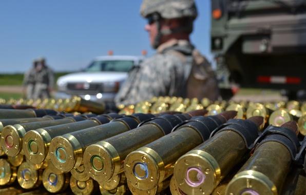 Picture macro, weapons, soldiers, cartridges, Full Metal Jacket, machine-gun tape