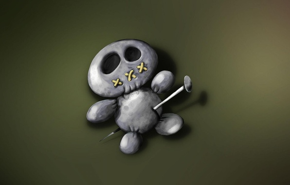 Picture doll, voodoo, pin