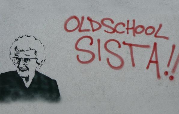 Picture graffiti, Granny, old school sista