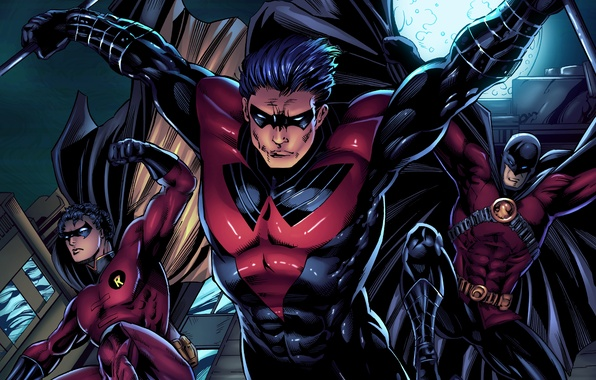 Wallpaper dc comics, tim drake, red robin, robin, batman ...