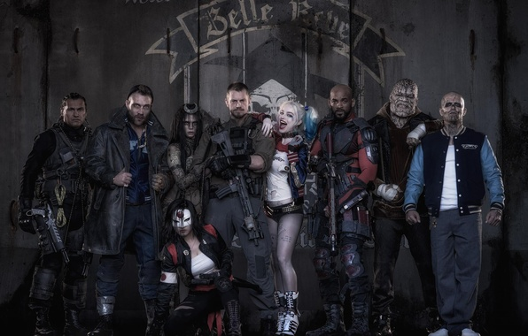 Picture Harley, Bad, Men, Girls, Wallpaper, Guns, Will Smith, Women, Team, Year, Weapons, DC Comics, Movie, …
