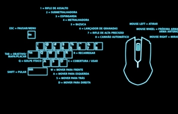 Wallpaper Lights Gamer Mouse Keyboard Instructions In Spanish