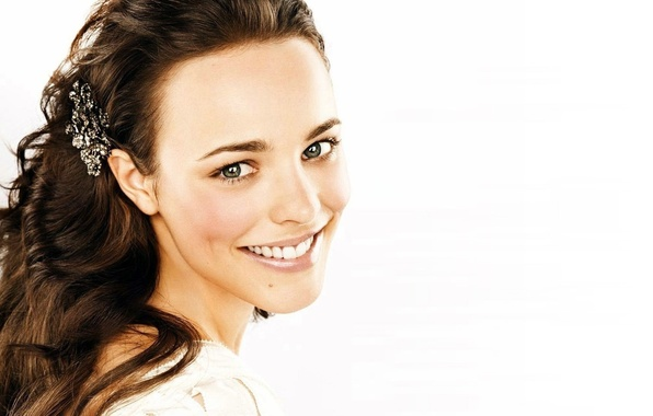 Picture girl, smile, actress, Rachel McAdams