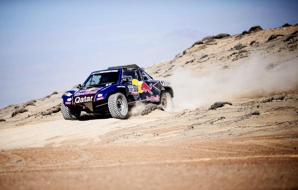 Picture Sand, Auto, Blue, Sport, Machine, Red Bull, 300, Rally, Dakar, Dakar, Rally, 2014, Buggy