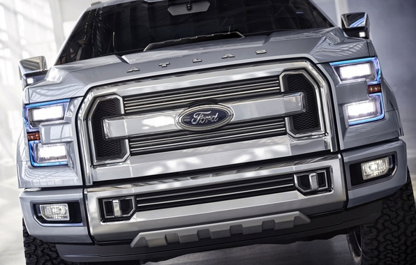 Picture Ford, Ford, Logo, Grille, Jeep, Lights, the front, Atlas-C
