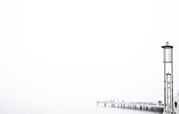 Picture bridge, people, tower