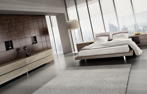 Picture room, carpet, window, bed, lamp