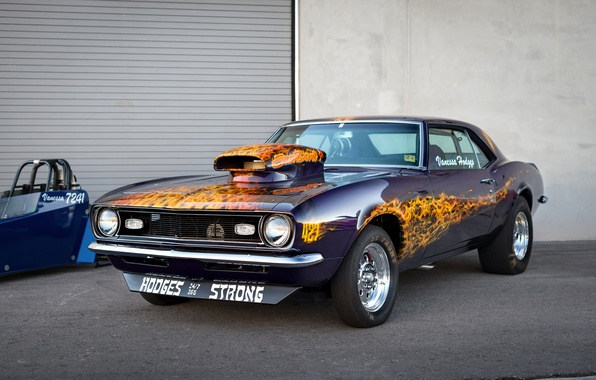Picture retro, Chevrolet, Camaro, Muscle car