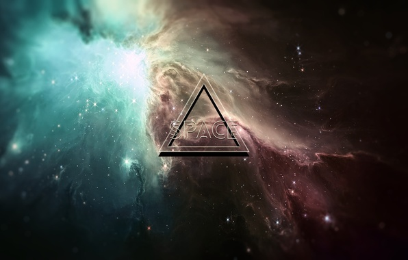Picture space, nebula, space, triangle