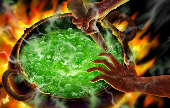 Picture hands, claws, Halloween, halloween, boiler, brew, Wunsch, punch