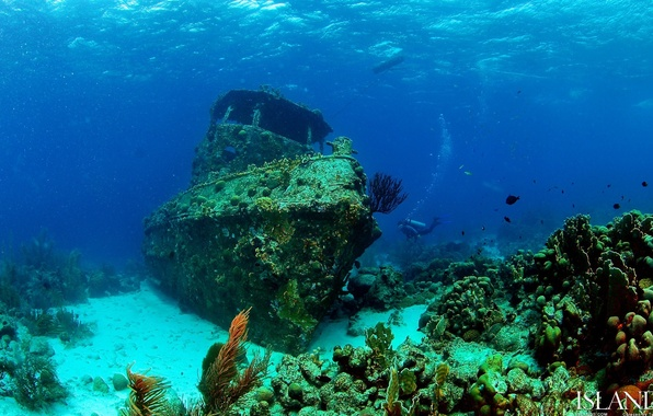 Picture beauty, Depth, the ship, sunken, beautiful landscape