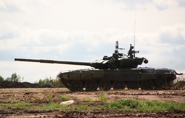 Picture tank, polygon, armor, T-90