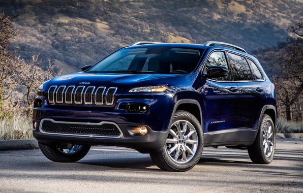 Picture hill, Jeep, the front, Jeep, Cherokee, Limited, Cheroke