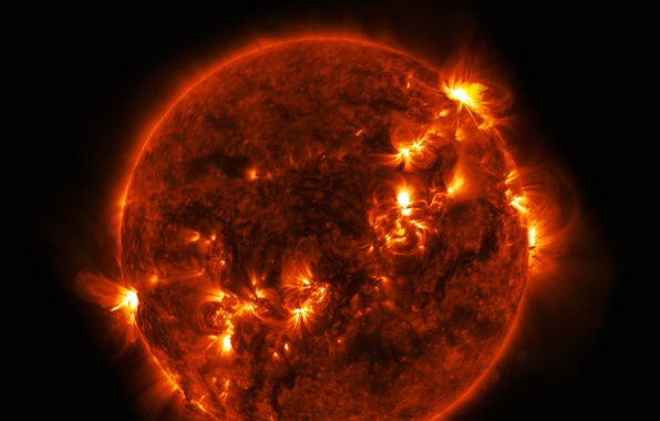 Picture the sun, star, flash, release, prominence