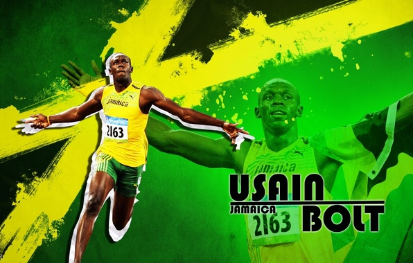 Picture running, Olympics, athlete, Jamaica, Sprinter, Usain Bolt, Usain Bolt