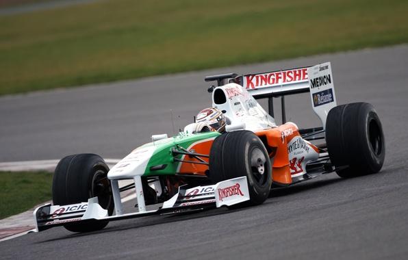 Picture Photo, Turn, Race, Track, Formula-1, The car, Force India, Force India, Formula 1