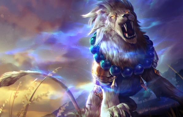 Picture Leo, art, Heroes of Newerth, moba, Gemini, Lion of Sol