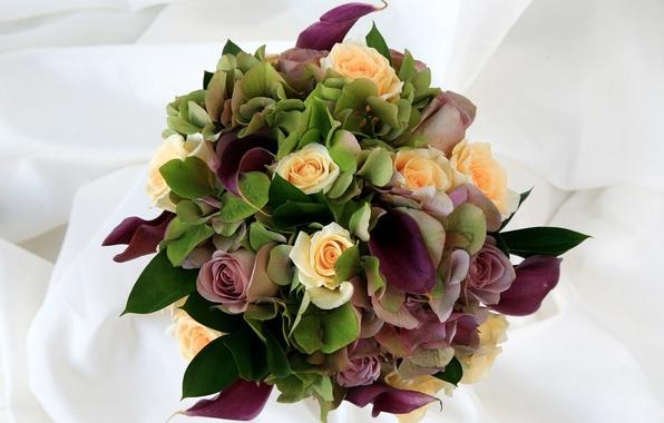 Picture flowers, roses, bouquet, composition