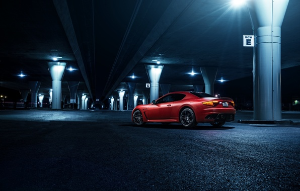 Picture Maserati, Light, GranTurismo, California, Downtown, Exotic, Rear, Sportline, Freeway