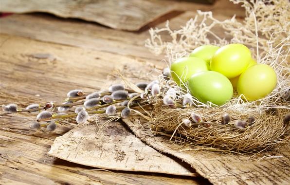 Picture eggs, Easter, socket, Verba, flowers, spring, Easter, eggs