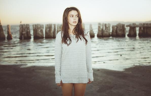 Picture Sea, Beach, Girl, Singer, Feet, Rock, Me Myers