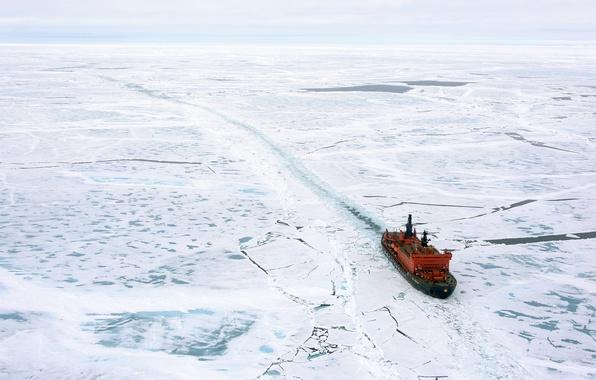 Picture snow, landscape, space, Icebreaker, ice