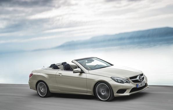 Picture Auto, Machine, Convertible, Day, Mercedes, Mercedes Benz, e-class, In Motion