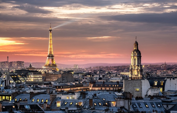 Picture the city, France, Paris, tower, home, Eiffel, Cathedral