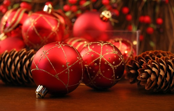 Picture balls, holiday, balls, Christmas, red, New year, new year, Christmas, bumps, Christmas decorations