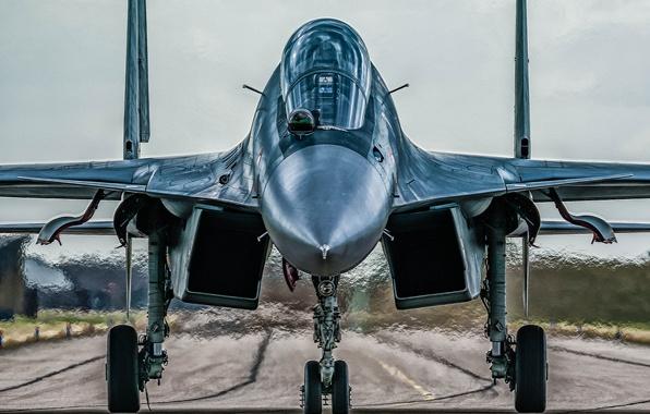 Picture fighter, plane, jet, RAF, Royal Air Force, aeroplane, military aviation, Sukhoi Su-30MKI