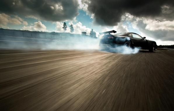 Picture Supra, drift car at Gatebill 2011, Flat Black Toyota