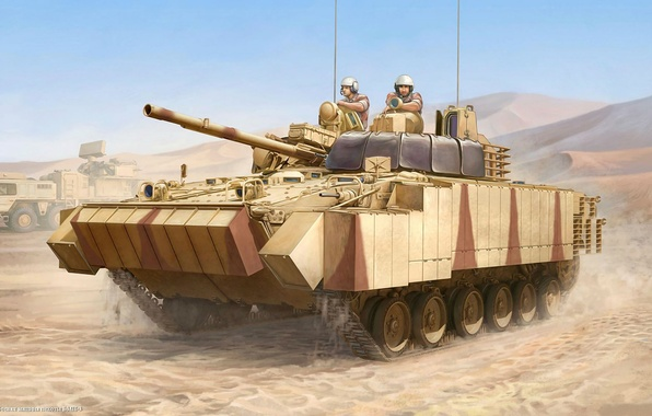 Picture army, technique, UAE, Soviet, infantry fighting vehicle, The BMP-3