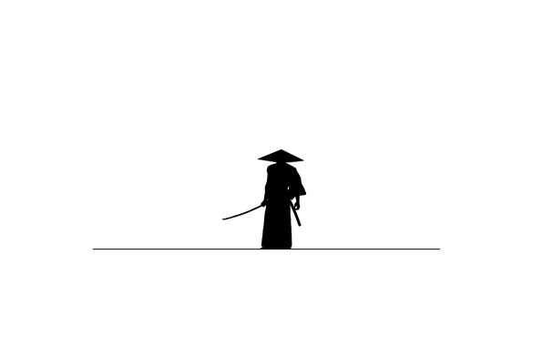 Picture background, minimalism, samurai