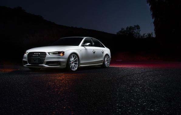 Picture Audi, Vorsteiner, White, Silver, Mercury, Ligth, Nigth, V-FF 102