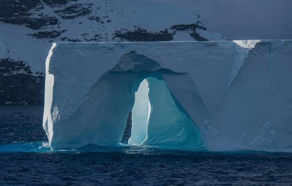 Picture iceberg, arch, Antarctica