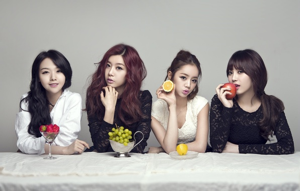 Picture music, girls, food, fruit, Asian girls, South Korea, singer, Girls Day, K-pop