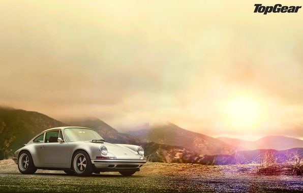 Picture glare, Porsche 911, top gear, wallpapers, telecast, top gear
