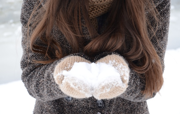 Picture winter, white, snow, hair