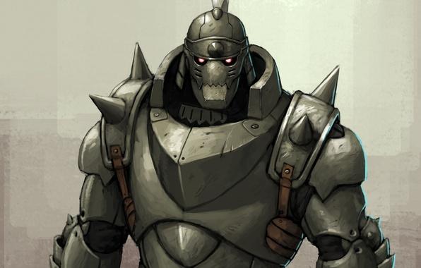 Photo Wallpaper Elric Alphonse Fullmetal Alchemist Armor Anime Art